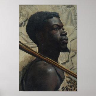 African Warrior by Walter Scott Boyd Poster