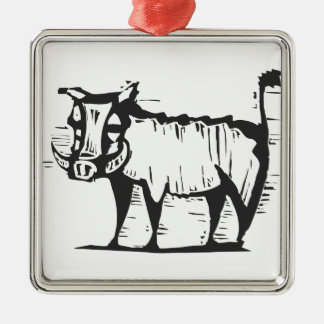 African Warthog Christmas Ornament