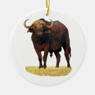 African Water Buffalo Christmas Ornament