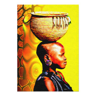 African Water Girl In The Hot Sun Photographic Print