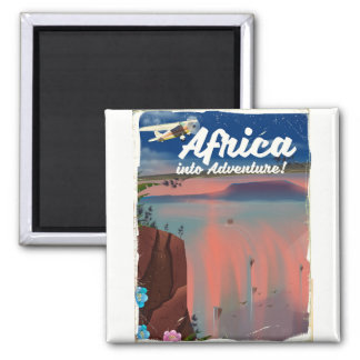 African Waterfall Adventure poster Magnet