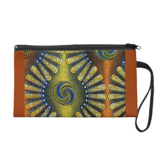 African Wax Fabric Wristlet 1