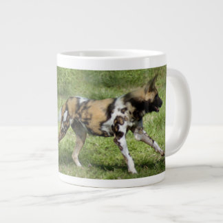 african-wild-dog-004 large coffee mug
