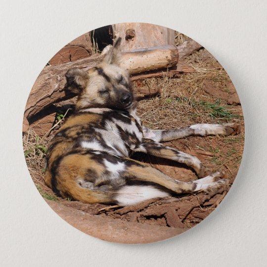 african-wild-dog-018 10 cm round badge