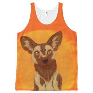 African Wild Dog All-Over Print Tank Top