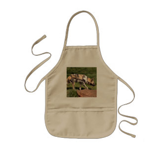 African Wild Dog Kids' Apron