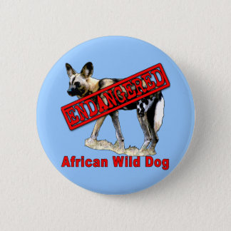 African Wild Dog Endangered Animal Products 6 Cm Round Badge