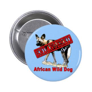 African Wild Dog Endangered Animal Products 6 Cm Round Badge