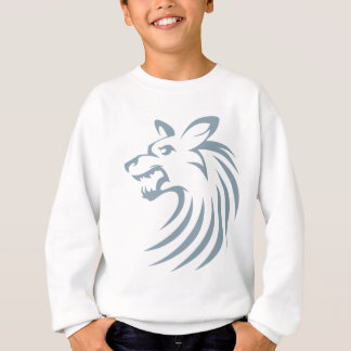 African Wild Dog in Swish Drawing Style Sweatshirt