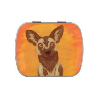 African Wild Dog Jelly Belly Tin