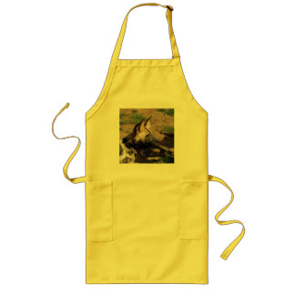 African Wild Dog Long Apron