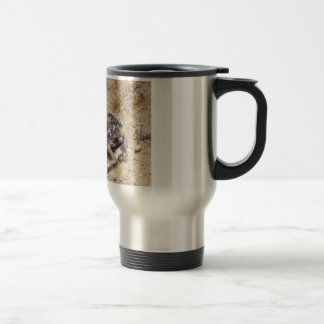 African Wild Dog showing its teeth Travel Mug