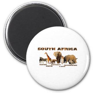 African Wildlife Collage 6 Cm Round Magnet