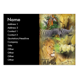 African Wildlife Collage Business Cards