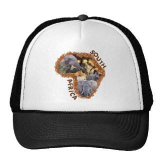 African wildlife continent collage 2 hat