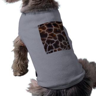 African Wildlife Giraffe Fur Photo Design Sleeveless Dog Shirt