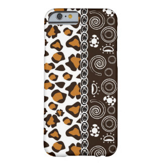 African with cheetah skin pattern barely there iPhone 6 case