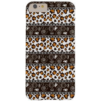 African with cheetah skin pattern barely there iPhone 6 plus case