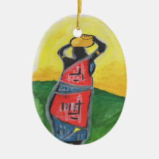 African Woman Christmas Ornament
