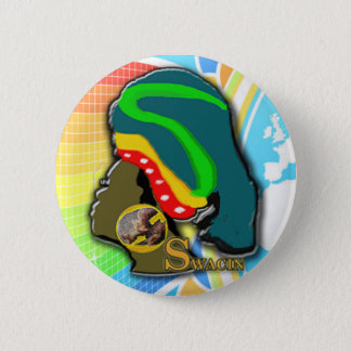 African Woman in the Rainbow 6 Cm Round Badge