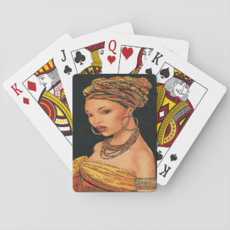 African Woman, Marie Leveou, Vintage Style Playing Cards