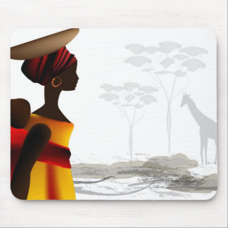 African woman mouse mat