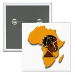 African Woman on the Continent Pins