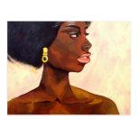 African Woman Portrait of June (K.Turnbull Art) Post Card