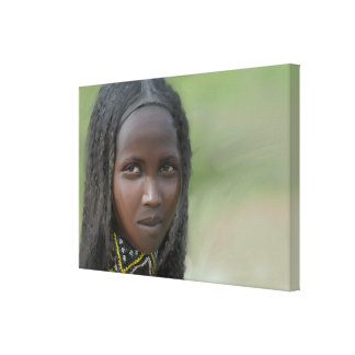 African Woman With Neck Decorations Canvas Print