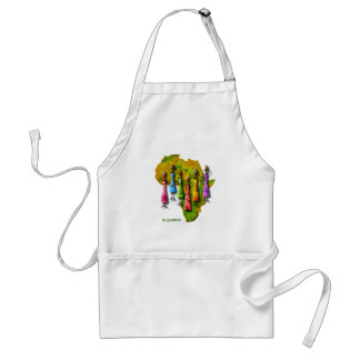 African Women In Colorful Dresses On Africa Map Standard Apron