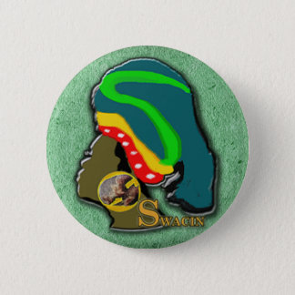 African Women in Green Grass 6 Cm Round Badge