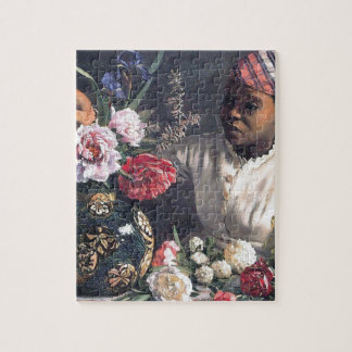 African Women with Peonies Jigsaw Puzzle