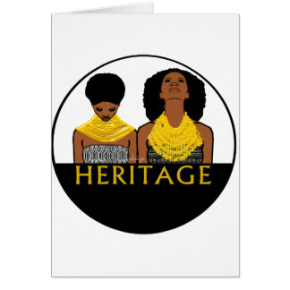 African Women With Tribal Necklaces Card