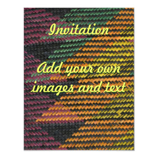 African Woven Straw Mat 11 Cm X 14 Cm Invitation Card