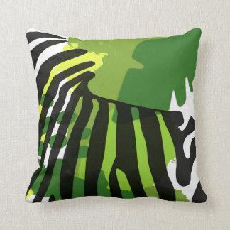 African Zebra silhouette Cushion