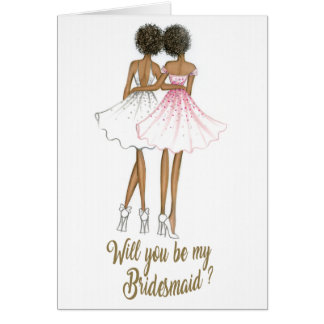 AfricanAmericanBride/AfricanAmericanBridesmaidCard Card