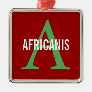 Africanis Breed Monogram Silver-Colored Square Decoration