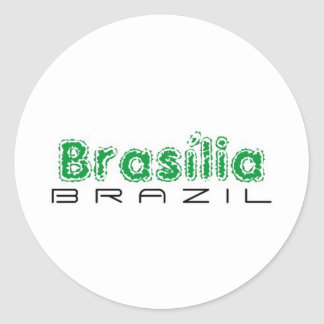 Africankoko custom Brasília, Brazil Round Sticker