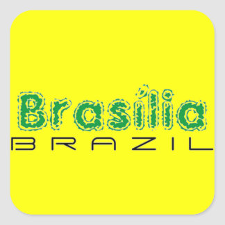 Africankoko custom Brasília Brazil Square Stickers