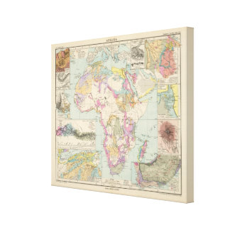 Afrika - Atlas Map of Africa Canvas Print
