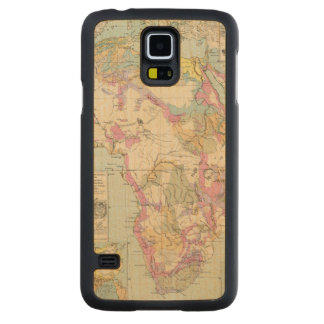 Afrika - Atlas Map of Africa Carved Maple Galaxy S5 Case