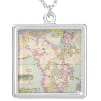 Afrika - Atlas Map of Africa Silver Plated Necklace