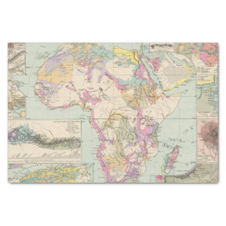 Afrika - Atlas Map of Africa Tissue Paper