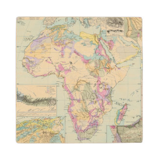 Afrika - Atlas Map of Africa Wood Coaster
