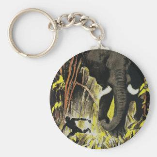 Afrika Basic Round Button Key Ring