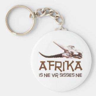 Afrika is nie vir sissies nie - Springbok skull Keychains
