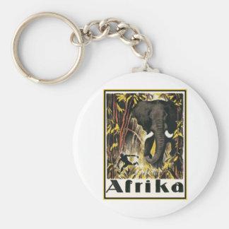 Afrika Vintage Travel Keychain