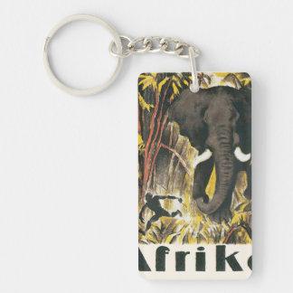 Afrika Vintage Travel Poster Double-Sided Rectangular Acrylic Key Ring