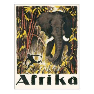 Afrika Vintage Travel Poster Postcard