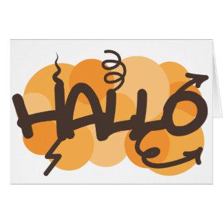 Afrikaans Hallo Greeting Card